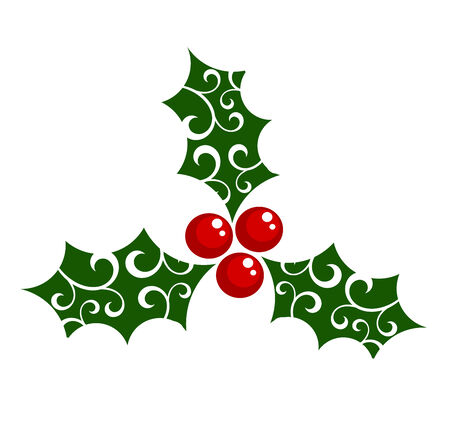 Holly berry - symbol of Christmas. illustration