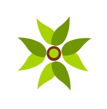 Green plant fan symbol illustration Illustration