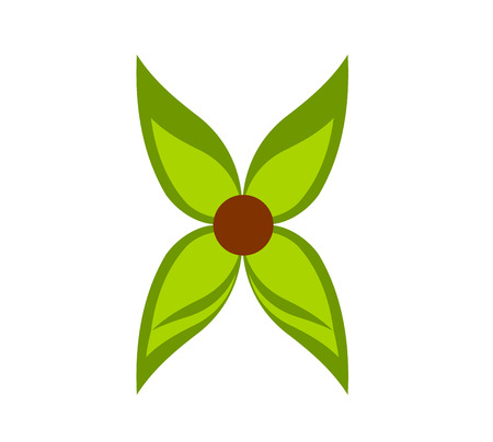Green flower symbol illustration Stock Vector - 8556095