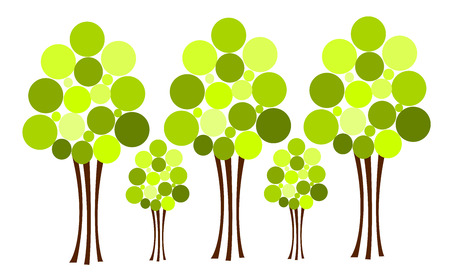 Abstract trees over white Stock Vector - 8556113