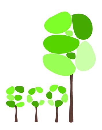 Symbolic tree and eco caption made of trees Stock Vector - 8556112