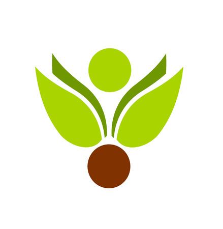 logos empresas: Ilustraci�n de emblema de motivo de planta Vectores