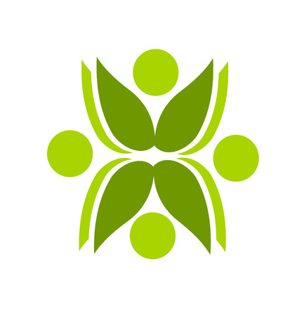 symmetrical design: Green plant graphic design