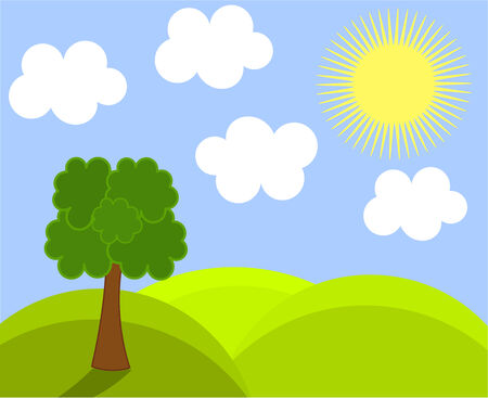 Spring landscape. Vector illustration Stock Vector - 8598298