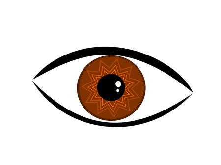 Symbolic brown eye illustration Stock Vector - 8641520