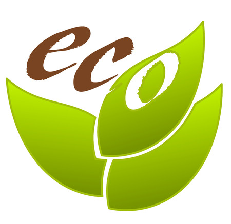 Symbolic eco emblem for design Stock Vector - 8641527