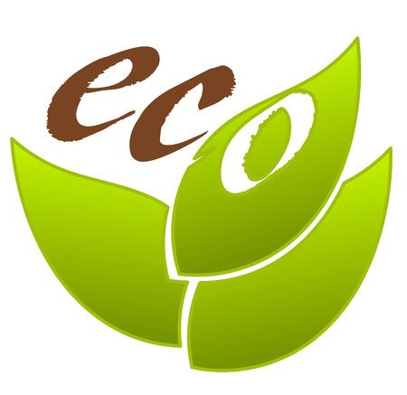 Symbolic eco emblem for design Vector