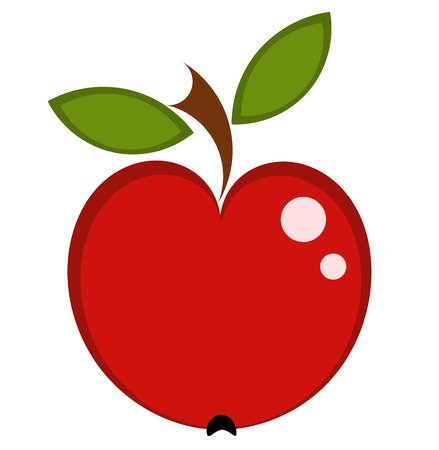 apple isolated: Fresh red apple isolated. illustration