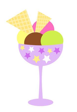 Ice cream illustration Vector
