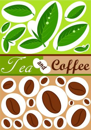 Fondo de café y té Ilustración de vector