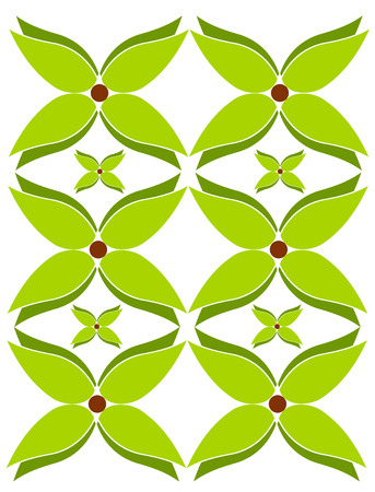Green flowers design - ornaments background Vector