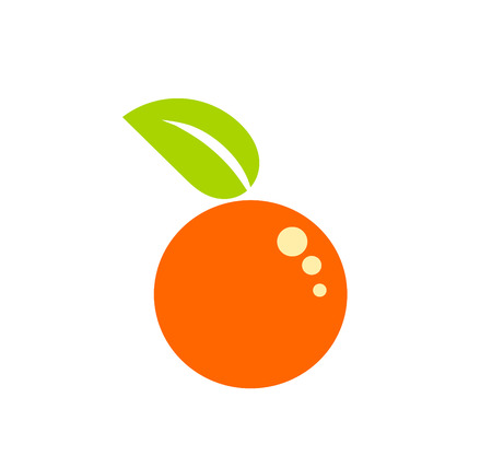 orange cartoon: Symbolic simple orange fruit Illustration