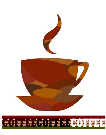 fatigues: Cup of coffee creative design. Vector illustration