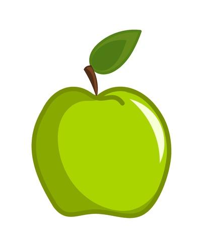 Green apple vector illustration Stock Vector - 9423395