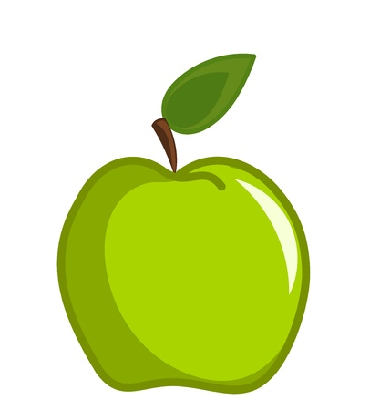 green apple: Green apple vector illustration