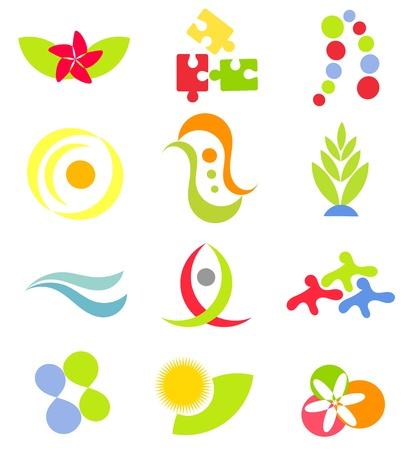 Set of various symbols - vector element for design Vector