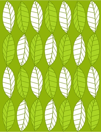 Vector background with leaves Stock Vector - 9426167