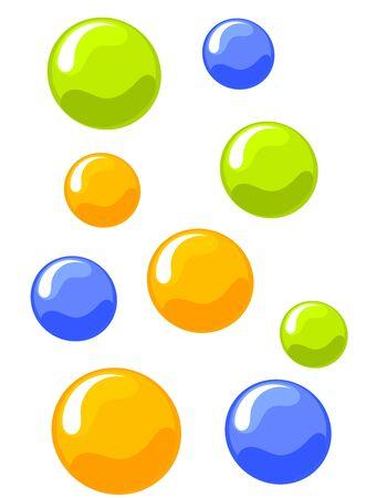 bulles de savon: Arri�re-plan color� de bulles. Illustration vectorielle