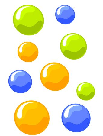 Colorful bubbles background. Vector illustration Stock Vector - 9481761