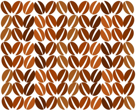 Coffee beans background. Vector illustration Stock Vector - 9481764