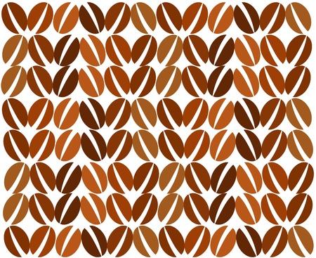 chicchi di caff�: Sullo sfondo di chicchi di caff�. Illustrazione vettoriale Vettoriali