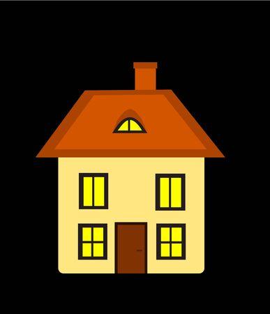 Beautiful house at night Stock Vector - 9584312