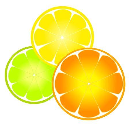 lemonade: Sunny citrus slices - orange, lemon and lime.
