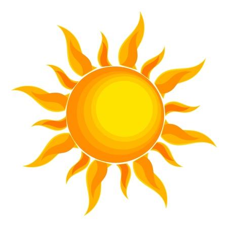 ホワイト上の太陽  イラスト・ベクター素材