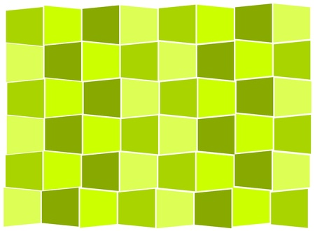 background - green tiles forming in stairs Vector