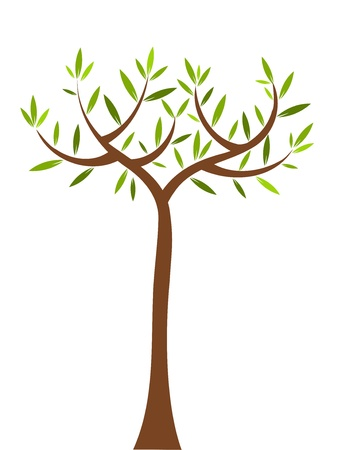 Symbolic tree with long trunk. Vector illustration Stock Vector - 9686374