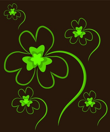 Clover plants with three leaves texture Vector