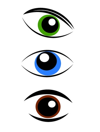 Eye symbols - vector illustration Stock Vector - 9686371