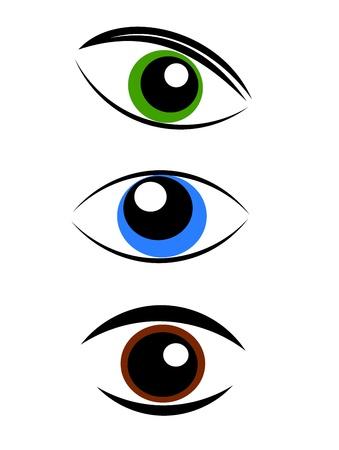 Symboles de l'oeil - illustration vectorielle