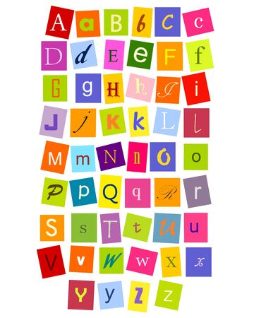 Colorful alphabet letters for design. vector Vector