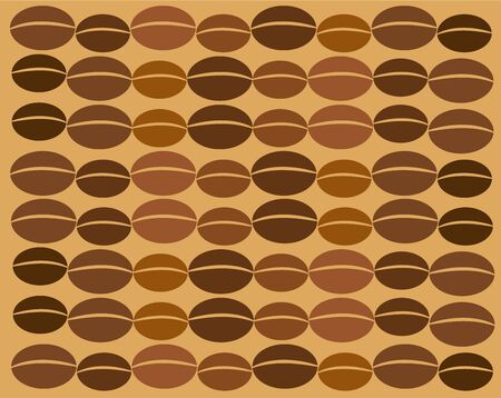 coffee beans: Coffee vector texture made of many beans in chain