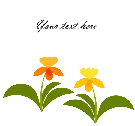 Orchid flowers growing. Background with copy space. Vector illustration Stock Vector - 9838057