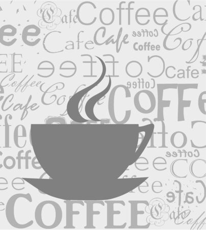 Coffee cup over coffee newspaper bacground. Vector illustration Zdjęcie Seryjne - 9838070
