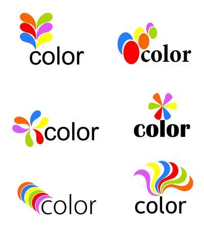 Jeu de vibrantes icônes colorées - illustration vectorielle