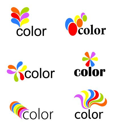 visual art: Set of vibrant colorful icons - vector illustration Illustration