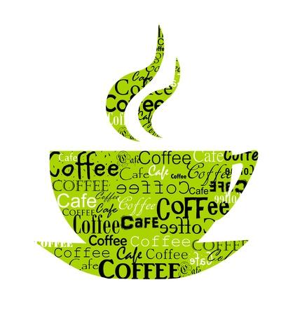 coffee cup vector: Original coffee cup design. Vector illustration