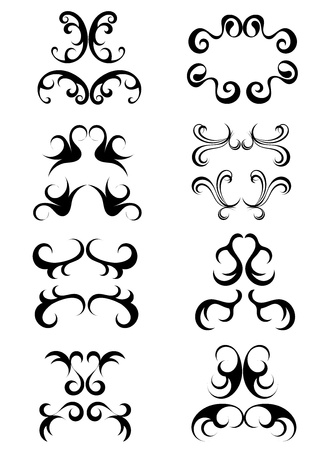 baroque border: Vintage ornaments - vector illustration