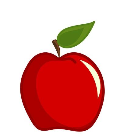 사과: 빨간 사과 벡터 일러스트 레이 션 일러스트