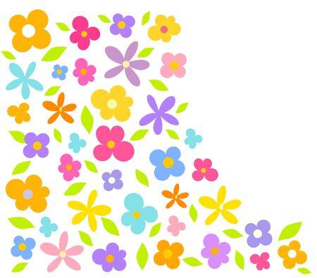 Carta di fiori colorati - sfondo vettoriale Archivio Fotografico - 9838083