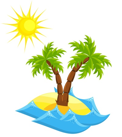 Summer vacation island. Vector