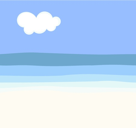Caribbean sea: Paradise beach. Illustration