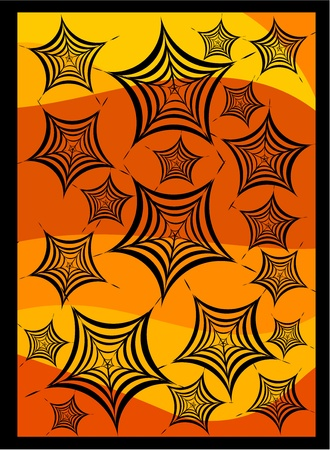 spidery: Halloween illustration of many spiders webs