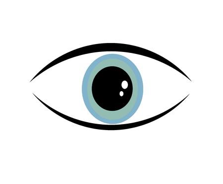 symbolic: Single symbolic blue eye