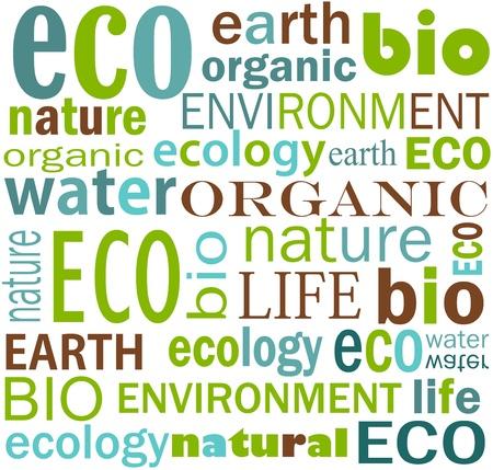 earth friendly: Textura amigable de eco - tierra y agua.  Vectores
