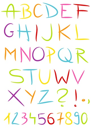 blackmail: Colorful hand made alphabet. Vector illustration