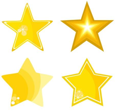 lucero: Colecci�n de iconos de estrella - ilustraci�n vectorial